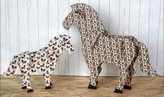 Horse 3d Puzzle For Laser Cut Free CDR Vectors Art