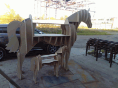 Horse Shelve Layout For Laser Cut Free CDR Vectors Art