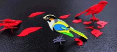 Laser Cut Bird 3d Puzzle Free CDR Vectors Art