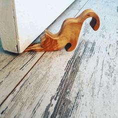 Laser Cut Cat Shaped Door Wedge Free CDR Vectors Art