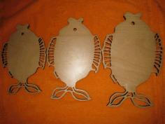 Laser Cut Decorative Fish Shaped Cutting Board Free CDR Vectors Art