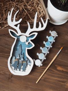 Laser Cut Deer Decor Free CDR Vectors Art