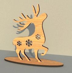 Laser Cut Deer Free CDR Vectors Art