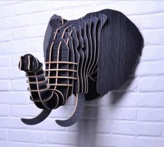 Laser Cut Elephant 3d Puzzle Free CDR Vectors Art