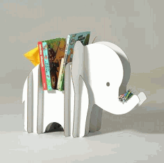 Laser Cut Elephant Storage 3d Puzzle Free CDR Vectors Art