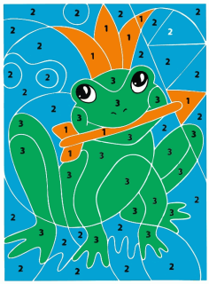 Laser Cut Frog Color By Number Puzzle For Kids Free CDR Vectors Art