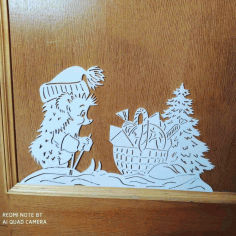 Laser Cut Hedgehog Decoration Free CDR Vectors Art