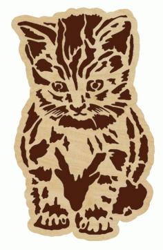 Laser Cut Kitten Free CDR Vectors Art