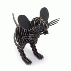Laser Cut Mouse Puzzle Mdf Wood Free CDR Vectors Art