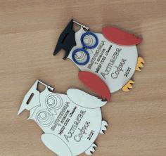 Laser Cut Owl Medal Free CDR Vectors Art