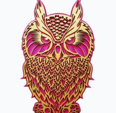 Laser Cut Owl Free CDR Vectors Art