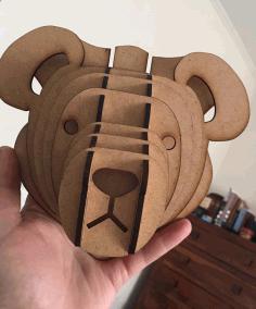 Laser Cut Teddy Bear Free CDR Vectors Art