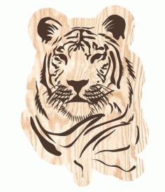 Laser Cut Tiger Free CDR Vectors Art