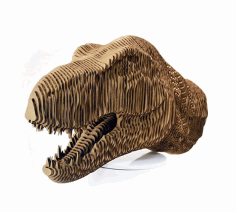 Laser Cut Tyrannosaurus Dinosaur t-rex Head Layered Model Free CDR Vectors Art
