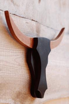 Laser Cut Wooden Bull Head Free CDR Vectors Art