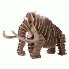 Mammoth 3d Puzzle For Laser Cut Free CDR Vectors Art