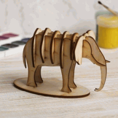 Mammoth Drawing Format For Laser Cut Free CDR Vectors Art