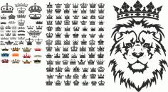 Crown Free CDR Vectors Art
