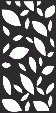 Floral Leaf Pattern Free CDR Vectors Art