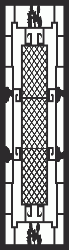 Iron Window Grill Design Free CDR Vectors Art
