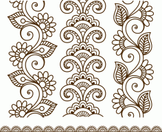 Henna Tattoo Mehndi Flower Template Free CDR Vectors Art