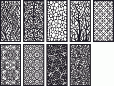 Pattern Panel Screen Collection Free CDR Vectors Art