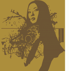 Beautiful Woman Portrait Abstract Free CDR Vectors Art