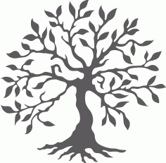 Silhouette Tree Of Life Free CDR Vectors Art