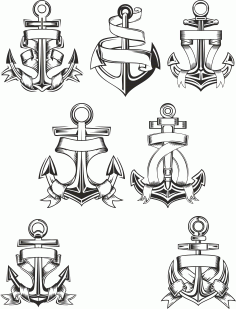 Anchor Vector Collection Free Download Free CDR Vectors Art