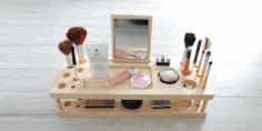 Makeup organizer Laser Cut Free CDR Vectors Art