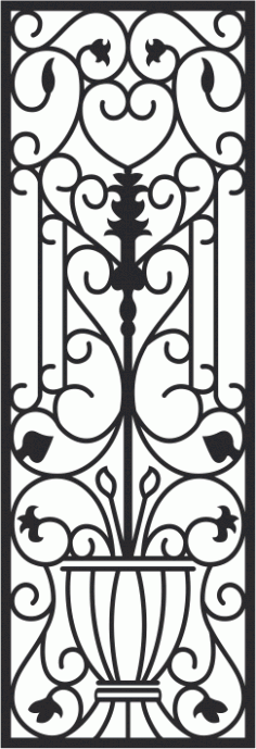 Iron Gate Pattern Free CDR Vectors Art