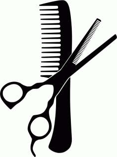 Hairdresser Comb And Scissors Free CDR Vectors Art
