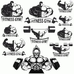 Collection Of Vector bodybuilders. Part 2 Free CDR Vectors Art
