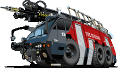 Fire Rescue Truck Free CDR Vectors Art