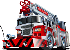 Robust Fire Rescue Truck Free CDR Vectors Art