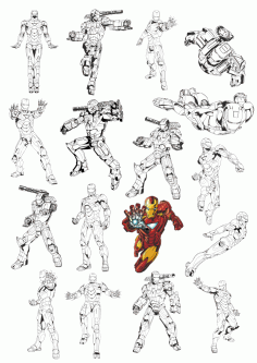 Iron Man Vector Images For Plotter Cutting Free CDR Vectors Art
