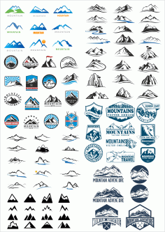 Logos Mountains Download Free Free CDR Vectors Art