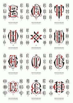 Monogram Large Collection Download Free CDR Vectors Art