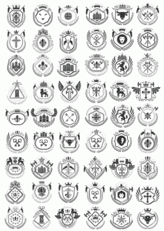 Vector Heraldry Free Download Collection Free CDR Vectors Art