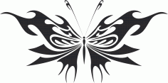 Butterfly Silhouette 014 Free CDR Vectors Art