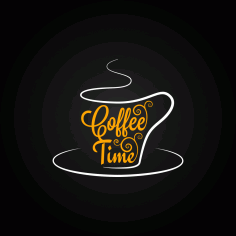 Cafe Logo Free CDR Vectors Art