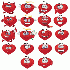 Smileys Hearts Big Vector Collection Free CDR Vectors Art