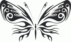 3D butterfly wall sticker black Free CDR Vectors Art