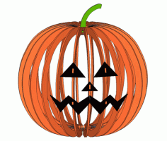 Lampshade In The Form Of A Pumpkin For Halloween Free CDR Vectors Art