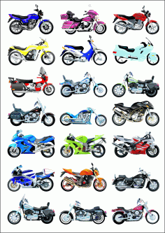 Big Collection Of Vector Motorcycles Download Free CDR Vectors Art