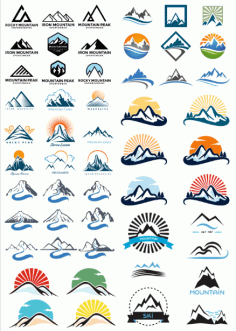 Thumbnail Logo For The Theme Mountains Free CDR Vectors Art