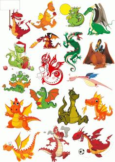 Vector Dragons Download Free Color Clipart Free CDR Vectors Art