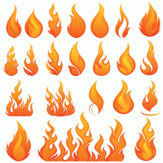 Vector Images Of Fire And Flames Free CDR Vectors Art