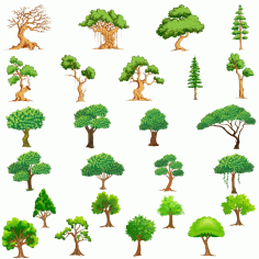 Vector Trees Collection 2 Free CDR Vectors Art