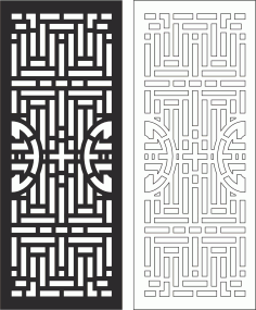 Carved Wood Partition Design Free CDR Vectors Art